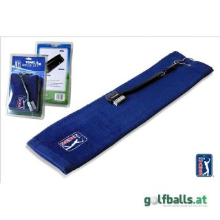 PGA TOUR Golf Towel and Club Brush Set