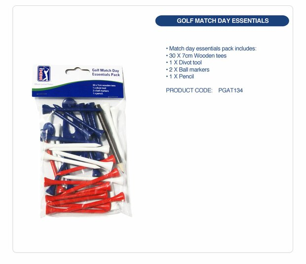 PGA TOUR Golf Match Day Essentials Pack