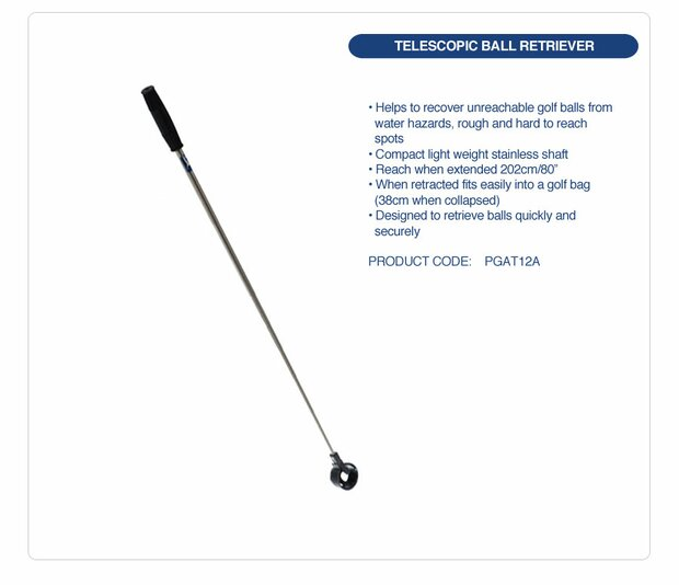 PGA TOUR Telescopic Golf Ball Retreiver