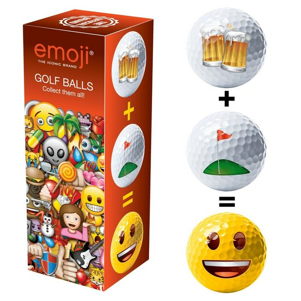 Emoji Golfball 3er Set